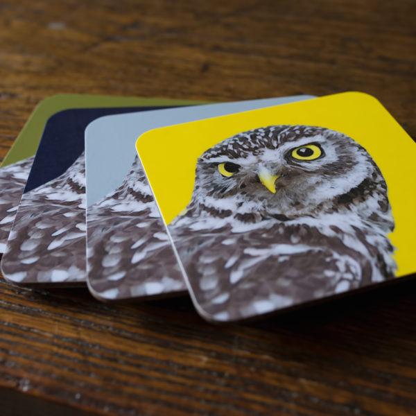 Coaster Owl Stacked